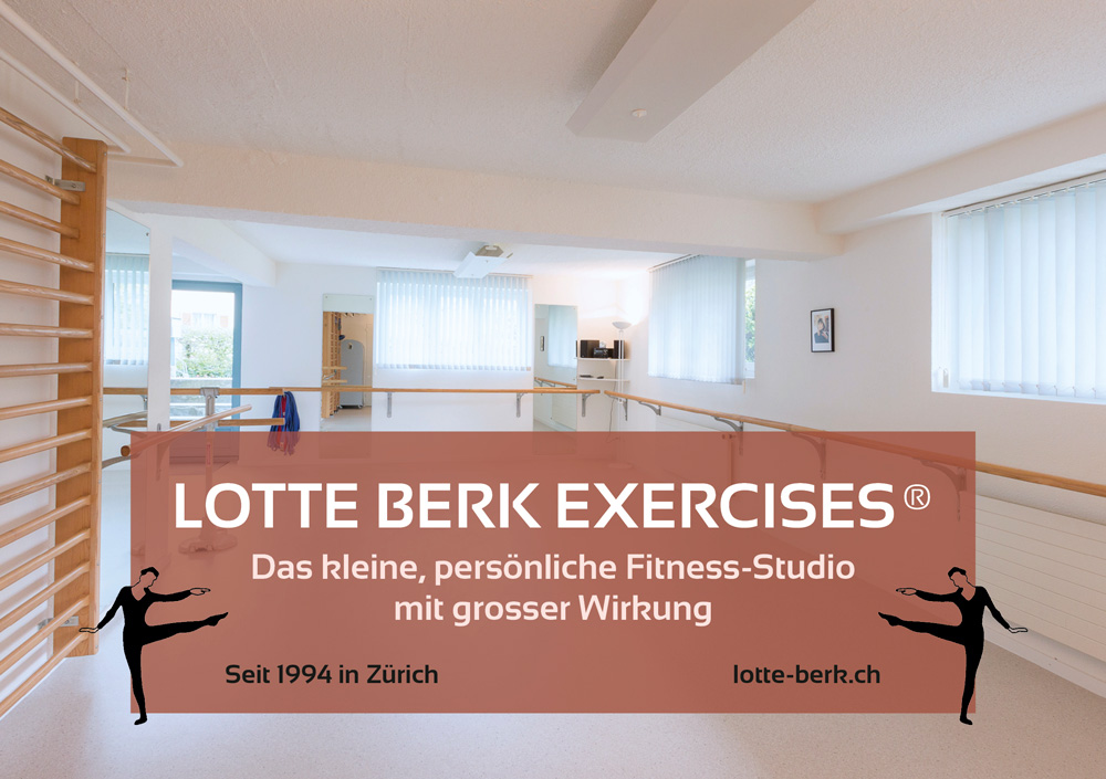 Flyer Lotte Berk Studio, Monika Gallo Vorderseite