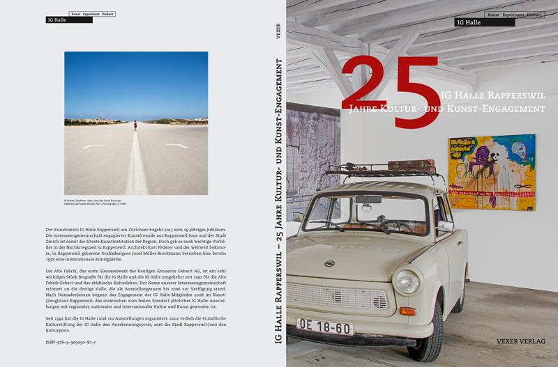 Cover Jubiläumspublikation 25 Jahre IG Halle Rapperswil