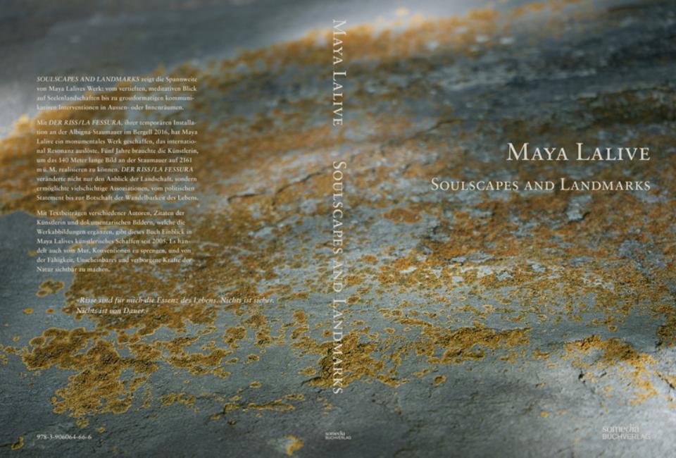 Cover Kunstbuch Maya Lalive, Soulscapes and Landmarks, Somedia Buchverlag