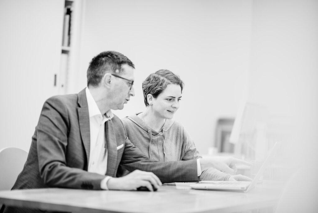 Guido Baumgartner und Judith Annaheim. Schriftliches Konzept und Text für Projekte. Grafikdesign in Zürich. textkurve