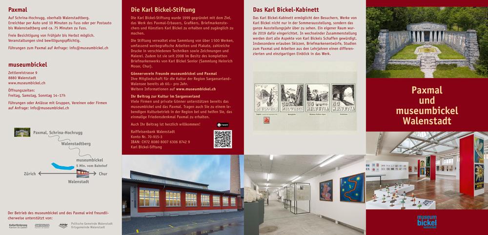 Faltflyer für museumbickel, Walenstadt, 2020, Seite 1