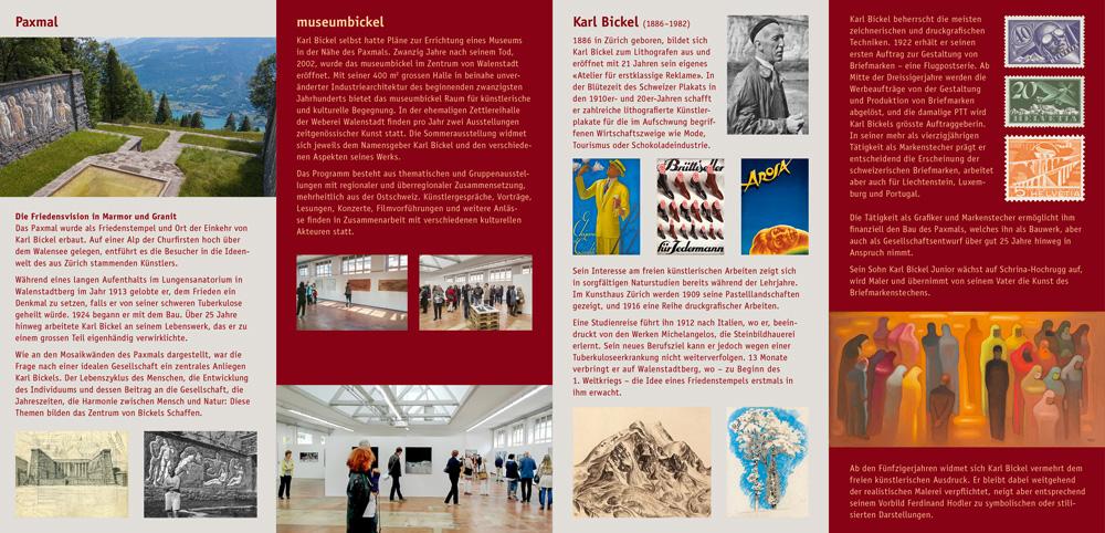 Faltflyer für museumbickel, Walenstadt, 2020, Seite 2