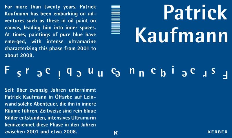 Patrick Kaufmann: Frequencies. Kerber Verlag, 2021. textkurve: Gestaltung und Text. deutsch-englisch. Cover mit Spiegelfolie.
