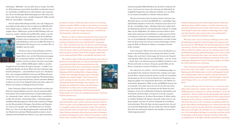 Cover Lukas Salzmann: In the Viewer's Eye – the Unknown. Text von Rudolf Velhagen